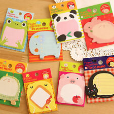 Lovely Cute Animal Shape Novelty Sticky Notes Sticker Marker Memo Notepad