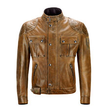 Belstaff Brooklands Blouson Leather Burnt Cuero Motorcycle Jacket | All Sizes