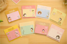 Lovely Doll Cute Cookys Girl Novelty Sticky Notes Sticker Marker Memo Notepad