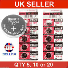 5, 10, 20 Genuine Maxell CR2032 3V Lithium Button/Coin Cells batteries