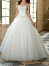 Pretty Sweetheart White or ivory bride Wedding Dress Bridesmaid Dress Size 6++16