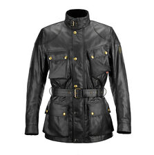 Belstaff Classic Tourist Trophy Black Motorcycle Waxed Cotton Jacket | All Sizes