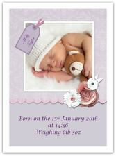 Personalised New Baby Gift. Boy & Girl Birth Present. Printed Keepsake Gifts