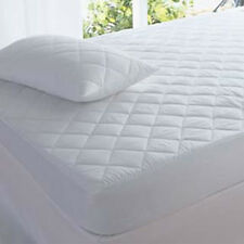 QUILTED MATTRESS PROTECTOR TOPPER LUXURY FITTED COVER SINGLE DOUBLE KING BUNK