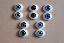SOLID GLASS EYES 16mm FOR REBORN DOLL KITS & OOAK BABIES *PHIL DONNELLY BABIES*