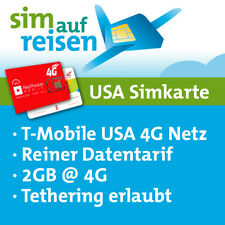USA Prepaid SIM Datenkarte mit 2 GB von Red Pocket (T-Mobile USA Netz)
