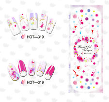 HOT319 Adesivi unghie DRIPPING  tattoo Stickers nail ART water decals POLISH GEL