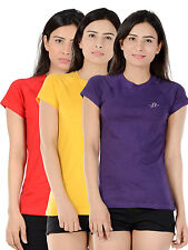 Unicarress Cotton Stretch Red Yellow Purple Combo