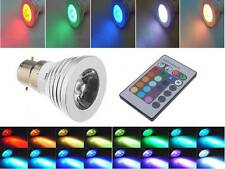 3W B22 LED Light Bulb RGB 16 Color changer with Remote Control