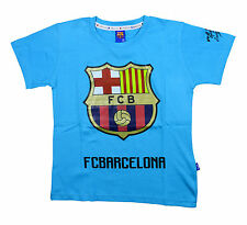 FCB Barcelona Round Neck T-Shirt SkyBlue-