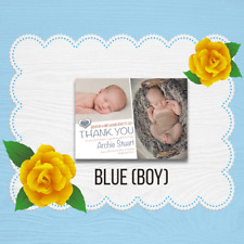 Personalised New Baby Thank You / Announcement Photo Cards & Envelopes 1-50