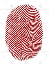 PAINTING ILLUSTRATION THUMBPRINT FINGERPRINT RED ART PRINT POSTER MP3199B