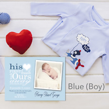 Personalised New Baby Birth Announcement Photo Thank You Cards & Envelopes 1-50