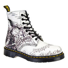 Dr Martens Demented Are Go Black & White Pascal Boots - Womens Footwear