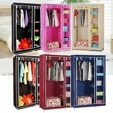 Anything & Everything New Foldable Wardrobe Almirah Cupboard Portable Storage