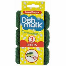 Heavy Duty Dishmatic Green Refill Sponges Free P/P