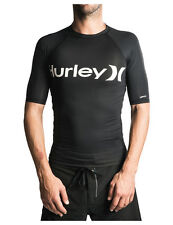 Hurley One And Only Short Sleeve Rash Vest in Black