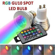 NEW 5W GU10 RGB LED BULB 16 COLOR CHANGE WITH REMOTE CONTROL FOR HOME DECORATION
