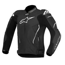10% OFF Alpinestars ATEM Black-White Motorbike Leather CE Certified Sport Jacket