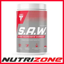 TREC NUTRITION S.A.W Pre Workout Pump Creatine B Alanine AAKG Nitic Oxide SAW