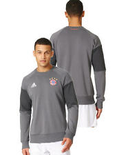 Sweat Top Bayern Monaco Adidas Felpa Allenamento Training Sweatshirt Grigio