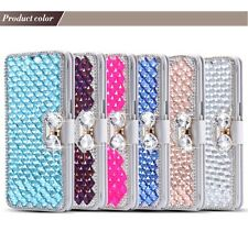 LUXURY Bling Bow Knot Crystal Diamond Wallet Flip Case Cover For (IPHONE 6)