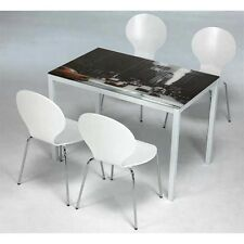 Conjunto mesa y 4 sillas salon o comedor new york