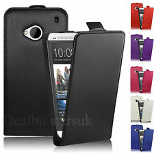 Premium Leather Flip Wallet Case Cover For HTC One M7+Free Screen Protector