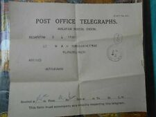 telegram telegraph 1940 British india Malaya George V - t014