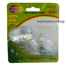MR16 Bulbs 50W 12V AC Halogen Light Lamp Clear Bulb