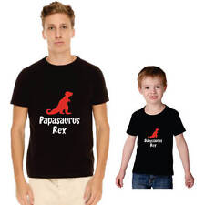 Papasauras Rex Dad And Child Family T-shirts - Cotton