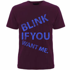 Blink if u want me(mens t-shirts)