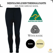 43a178e877045 Men's 100% Pure Merino Wool Thermal Long Johns Pants Warm Underwear Thermals  New