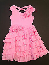 BNWT KATE MACK 2016 Girls Summer Pink Ruffle Dress - Ages 5, 6, 7, & 10 yrs