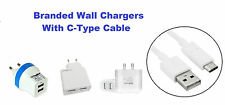 100% Branded Dual USB Wall Charger With C-Type Cable For  HTC 10