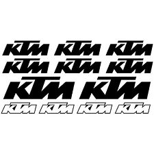 12X KTM. pegatina, decal, aufkleber, sticker, vinilo, vinyl. 23 colours