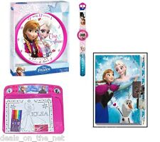 Disney Princess Frozen Notebook Watch Clock Drawing Board Set Gift Set Kids