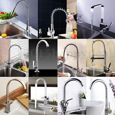 Professional Chrome Modern Pull Out Kitchen Taps Mixer Swivel Brushed Faucet UK