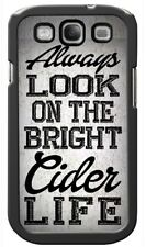 ALWAYS LOOK ON BRIGHT CIDER LIFE Rear COVER CASE GALAXY S3 S4 S5 S6 edge mini