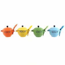 Soup Bowls Funky Soup Bowls With Matching Lids & Spoon Set Of 2 Ideal Home Gift