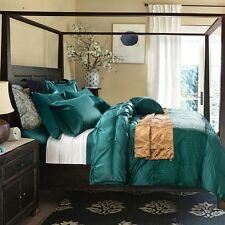 6pc. Pinched Pleated Luxury Queen King Size  Duvet Cover Bedding Set