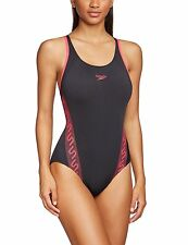 Speedo Monogram Muscleback Swimsuit.Ladies Girls Swimwear.Speedo Black Swimsuits