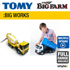 TOMY BIG WORKS FULL RANGE TO CHOOSE FROM - IVECO DUMP TRUCK AND CEMENT MIXER NEW