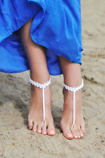 Crochet barefoot sandals,Brides shoes,Yoga,Beach wear,Anklet,Hippy boho chic.