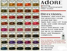Adore Semi Permanent Hair Colour, Hair Colour, Hair Dye, Alcohol Free 118ml