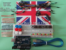 New Arduino UNO Rev3 ATMEGA328P Board with Basic Essentials Starter Kit R3 UK
