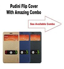 Pudini Leather Flip Cover Case For Nokia Lumia 730 With Amazing Combo