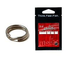 Molix Stainless Split RIng Pesca Spinnng Casting Predatori Artificiali      FEU