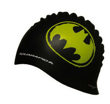 AQUARAPID BATMAN VERDE LOGO ON NERO LUNGA DURATA SILICONE NUOTARE