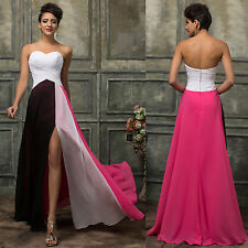New Masquerade Long Chiffon Bridesmaid Dress Evening Formal Party Ball Gown Prom